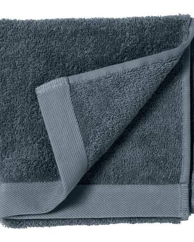 Modrý uterák z froté bavlny Södahl China, 60 x 40 cm