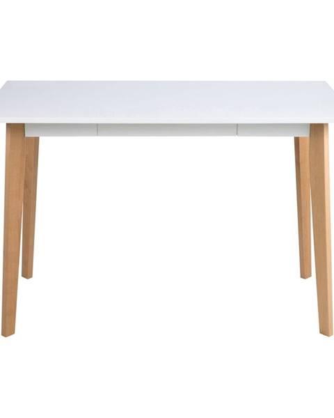 Actona Písací stôl s podnožím z dreva brezy Actona Raven