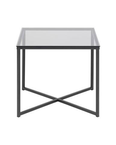 Odkladací stolík so sklenenou doskou Actona Cross