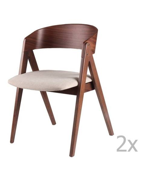sømcasa Sada 2 jedálenských stoličiek s béžovým podsedákom sømcasa Rina