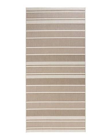 Béžový vonkajší koberec Bougari Strap, 80 x 200 cm