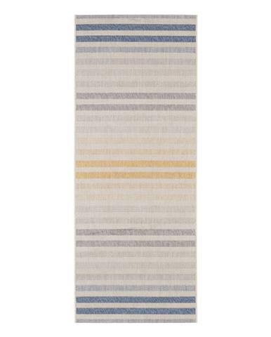 Modro-oranžový vonkajší koberec Bougari Paros, 80 x 200 cm