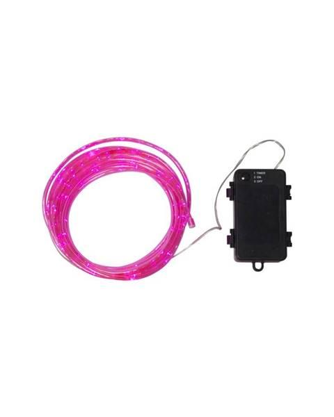 Best Season Ružová vonkajšia svetelná LED reťaz Best Season Tuby, 50 svetielok