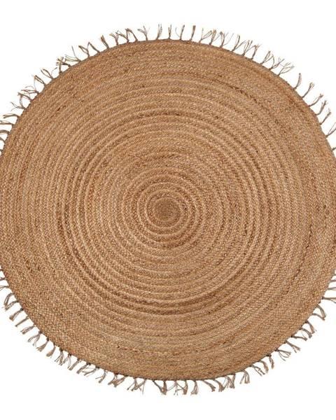 Nattiot Hnedý ručne vyrobený koberec Nattiot Abha, ø 140 cm