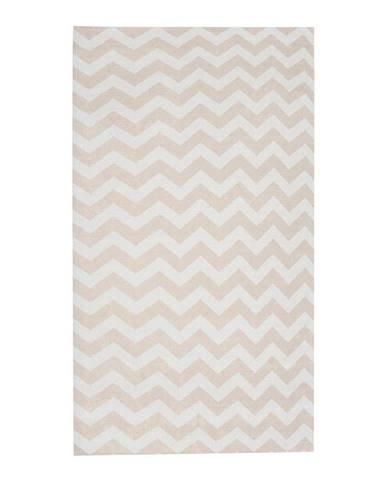 Béžovo-biely behúň Floorita Optical Beige, 60×220cm