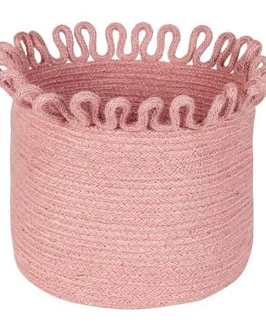 Ružový ručne vyrobený úložný jutový kôš Nattiot Omala