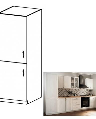 Kuchynská skrinka na vstavanú chladničku D60ZL ľavá biela/sosna Andersen SICILIA