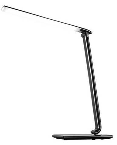 Stolná LED lampa s USB zdierkou čierny lesk WO37-B