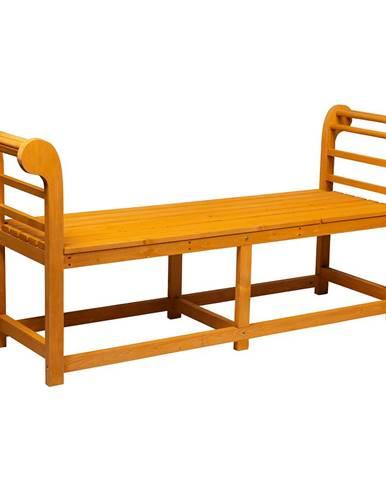 Záhradná lavička masívne drevo URITA