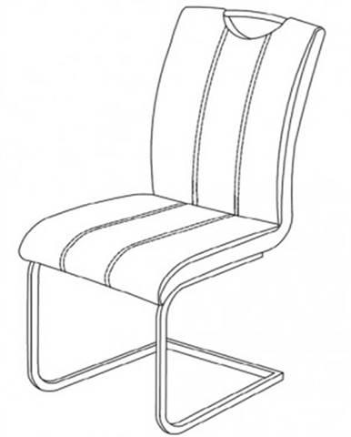 Jedálenská stolička Elza, biela ekokoža%