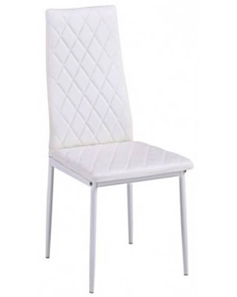 ASKO - NÁBYTOK Jedálenská stolička Rimini, biela ekokoža%