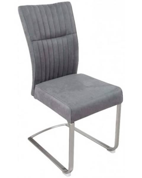 ASKO - NÁBYTOK Jedálenská stolička Sonata, šedá vintage látka%
