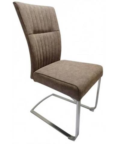 Jedálenská stolička Sonata, hnedá vintage ekokoža%