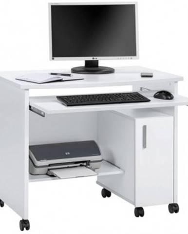PC stôl Stuttgard, bílý%