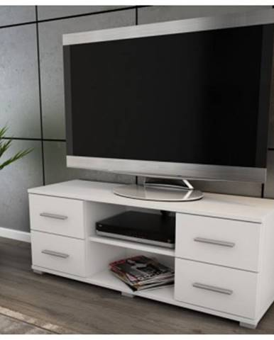 TV stolík Oskar TV, biely, 120 cm%