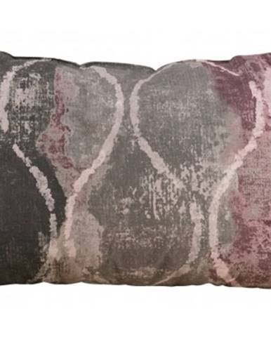 Dekoračný vankúš Vanessa 60x40 cm, ružový vzor%