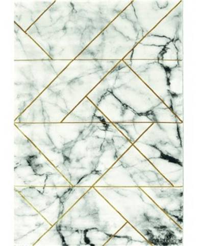 Koberec Craft 160x230 cm, mramorový dizajn, šedo-zlatý%