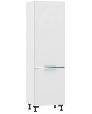 Vysoká kuchynská skriňa One PO60D, biely lesk, šírka 60 cm%
