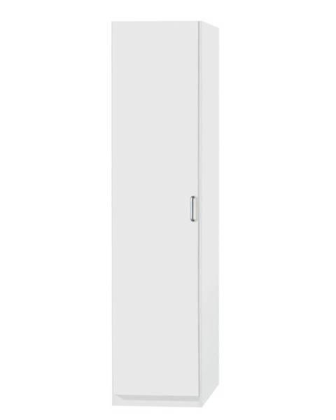Sconto Policová skriňa PARKER biela, výška 197 cm, hĺbka 41 cm