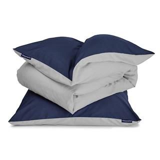 Sleepwise Soft Wonder-Edition, posteľná bielizeň, tmavomodrá, 135 x 200 cm, 80 x 80 cm