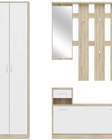 Vešiaková stena Alaska dub sonoma/biely