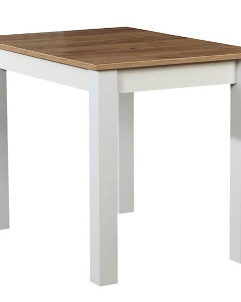 MERKURY MARKET Stôl ST29 100X70 dub wotan/biely