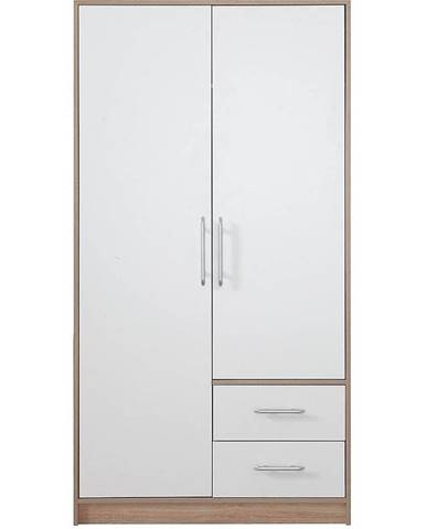 Skriňa Smart SR3 100 cm dub sonoma/biela