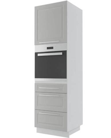 Kuchynská skrinka Emporium D14RU/3M light grey stone/biela