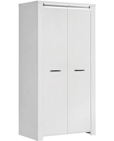 Skriňa Brugia BUGS821B sivá/biela lesklá