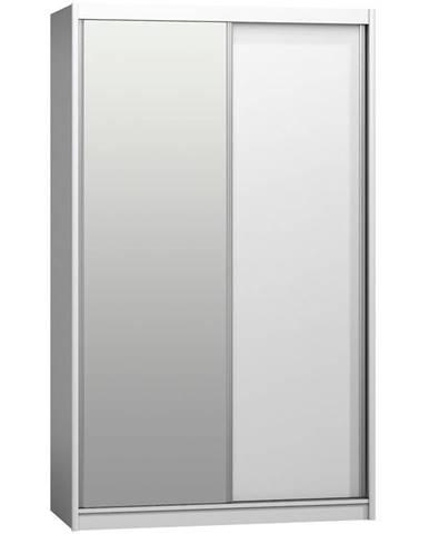 Skriňa Karol 143 s zrkadlom alpská biela