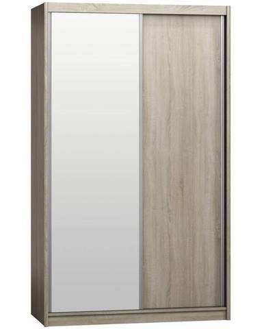 Skriňa Karol 143 s zrkadlom dub sonoma