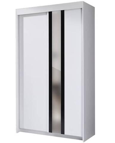 Skriňa Belt 120 cm biela/čierna