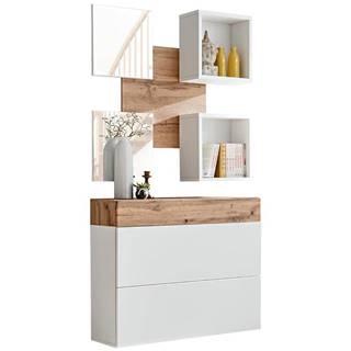 Predsieňový nábytok Easy V wotan/biely