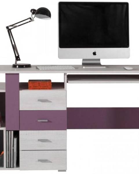 MERKURY MARKET Písací stôl Next NX-13 borovica biela/viola