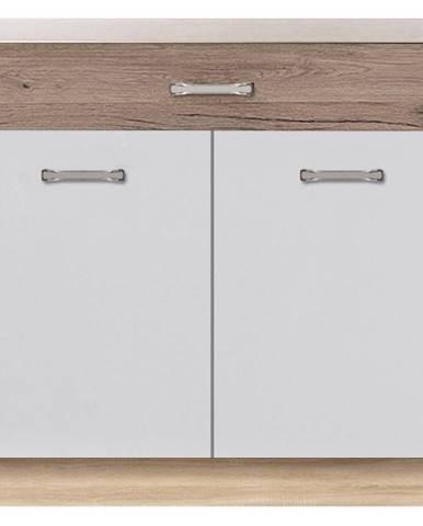 Skrinka do kuchyne Econo 7D Sonoma/Biely/San Remo