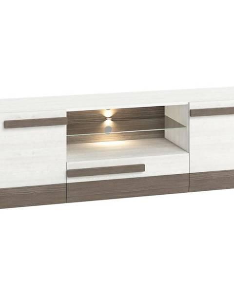 MERKURY MARKET TV stolík Blanco 09 165 borovica snežná/new grey