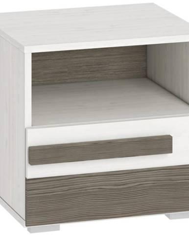 Nočný stolík Blanco 18 46 borovica snežná/new grey