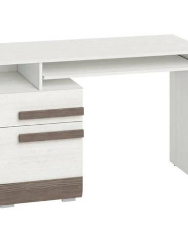 Písací stôl Blanco 11 borovica snežná/new grey