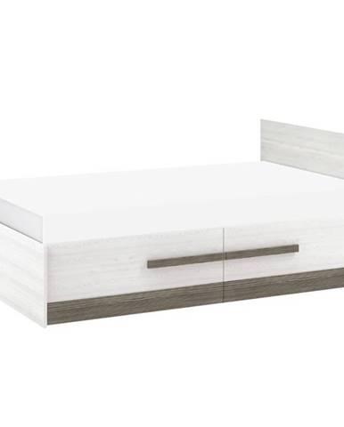 Posteľ Blanco 17 130 borovica snežná/new grey
