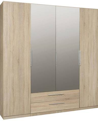 Skriňa Cadixo 200 2D2S2L Dub Sonoma/zrkadlo
