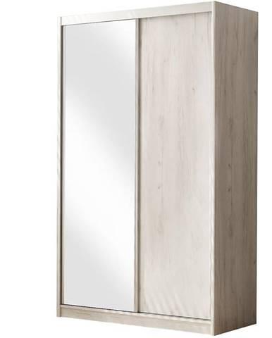 Skriňa Karol 146 zrkadlo Kraft biela