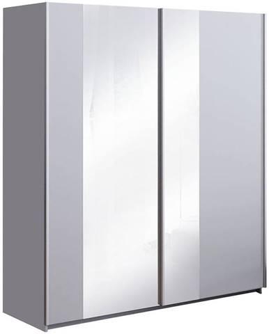 Skriňa Kolonia platinum/ zrkadlo
