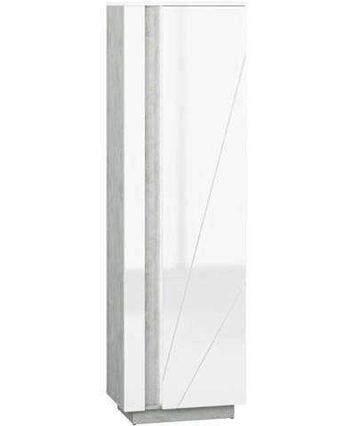 Skriňa Lumens 02 biely lesk/betón
