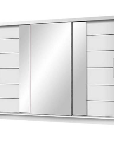 Skriňa Lizbona 2 250 biely/zrkadlo