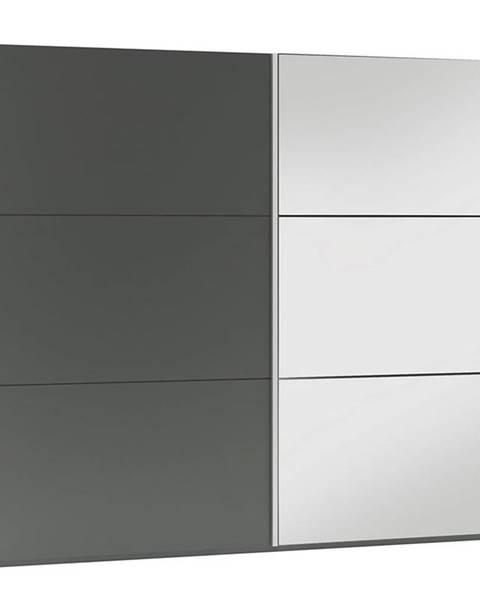 MERKURY MARKET Skriňa Vigo 225 grafit/zrkadlo