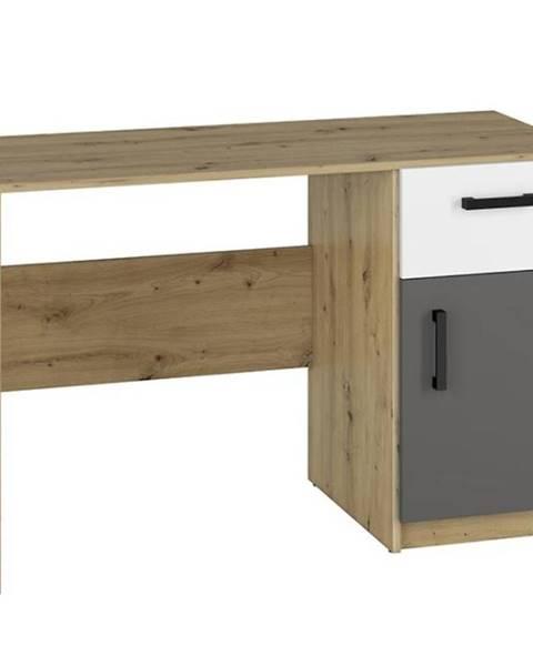 MERKURY MARKET Písací stôl Fini 08 dub artisan/biela/antracit