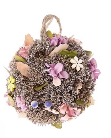 Závesná guľa s umelými kvetinami Leerdam, pr. 11 cm