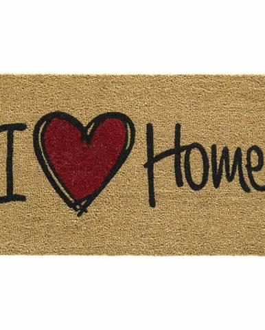 Vopi Kokosová rohožka Ruco print Natural Heart, 45 x 75 cm
