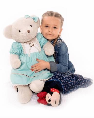 Plyšový medveď smotanová/modrá 65cm MADEN GIRL TYP2