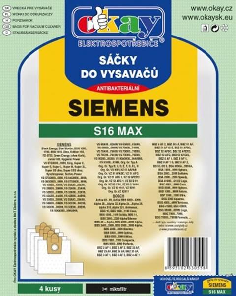 Jolly Vrecká do vysávača Siemens S16 MAX, 8ks